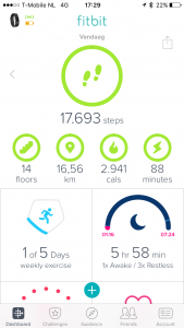 Fitbit Charge 2 - App dashboard
