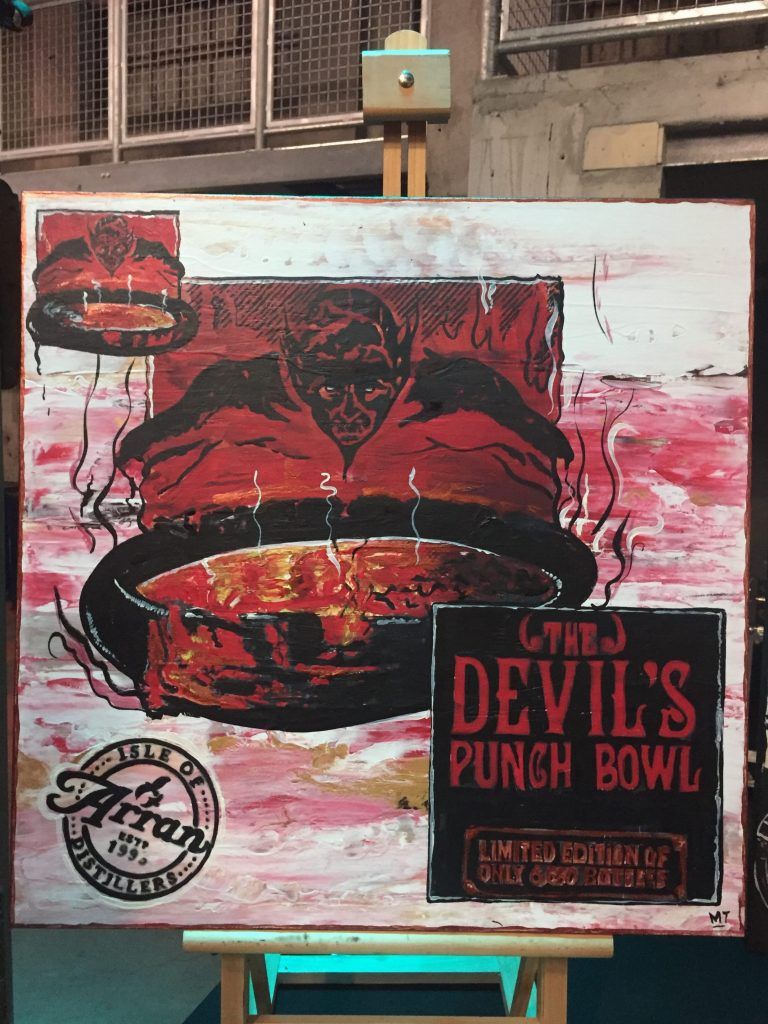Whisky art Arran Devils Punch