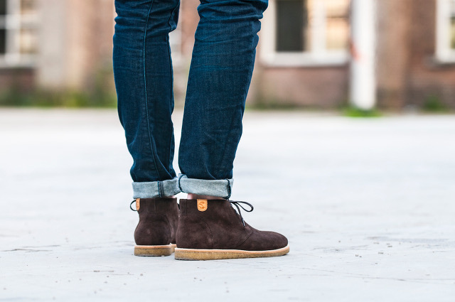 Wednesday Whiskey Teel Mid Brown Suede