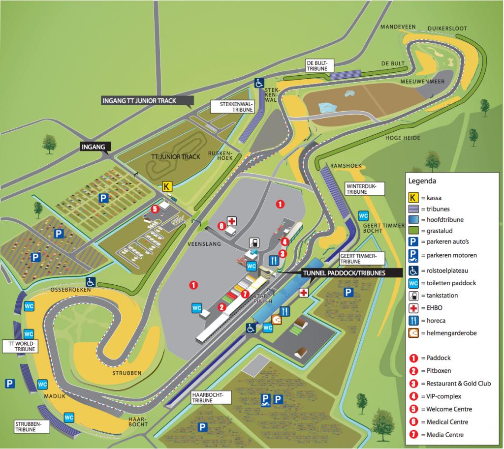Plattegrond TT Circuit Assen