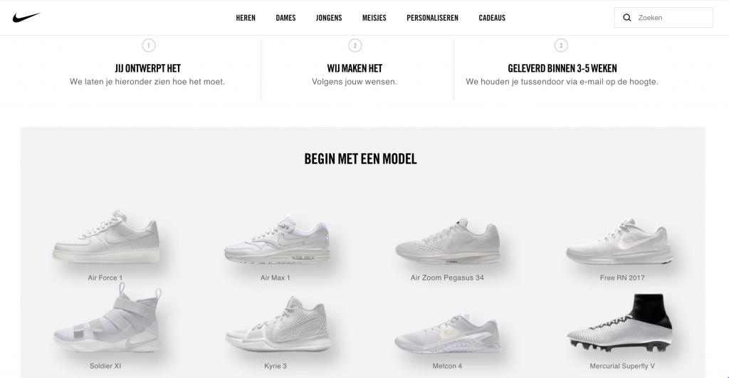 Nike schoenen personaliseren stappen