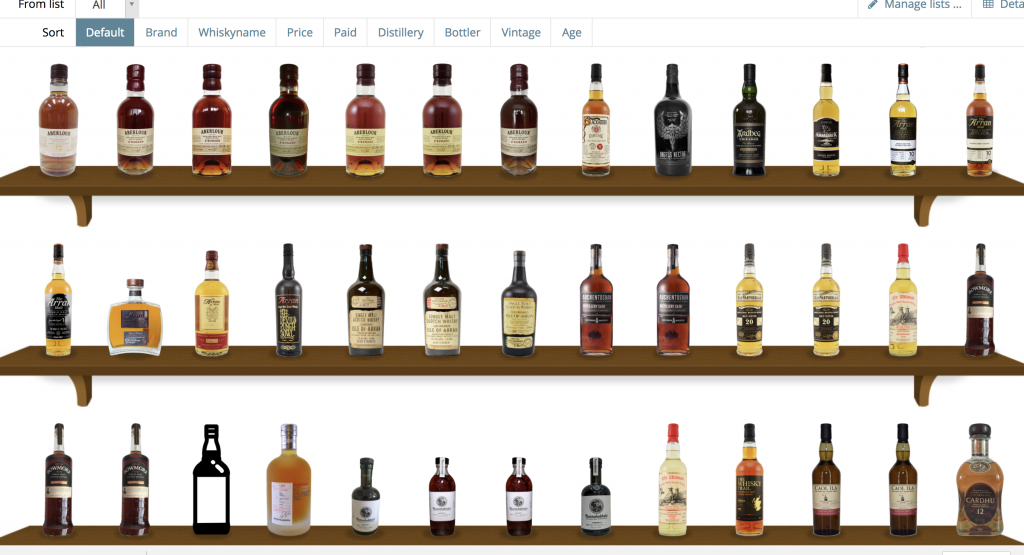 Whiskybase online collectie