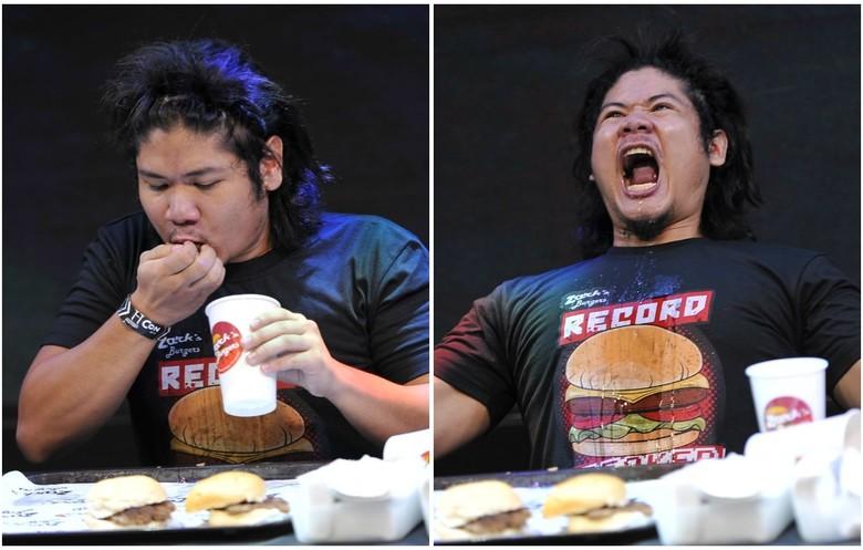 RICARDO FRANCISCO - Meeste hamburgers in een minuut