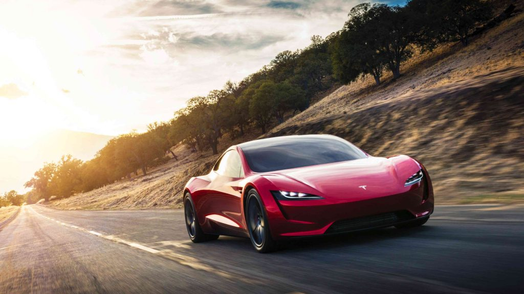 Tesla Roadster voorkant - Manisfaction
